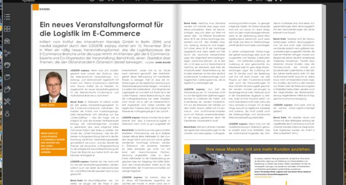 Ein neues Veranstaltungsformat für die Logistik im E-Commerce