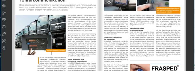 Westrans verbessert Fahrerkommunikation mit WEBFLEET von TomTom Telematics