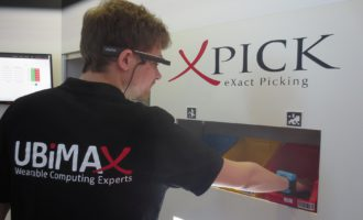 "LogiMAT 2017: Fastest Order Picking ever with Pick-by-Vision solution ""xPick"" and Ubimax' RFID wris"