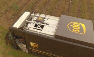 UPS testet Privatzustellung per Drohne vom Dach eines Zustellfahrzeugs
