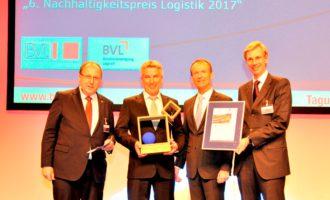 Versandhändler memo AG mit dem Nachhaltigkeitspreis Logistik 2017 ausgezeichnet
