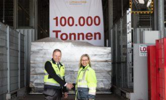 Lufthansa Cargo AG: 100.000 Tonnen Fracht über das Speedgate verladen