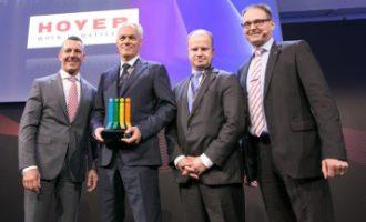 Hoyer mit Supplier Award 2017 ausgezeichnet