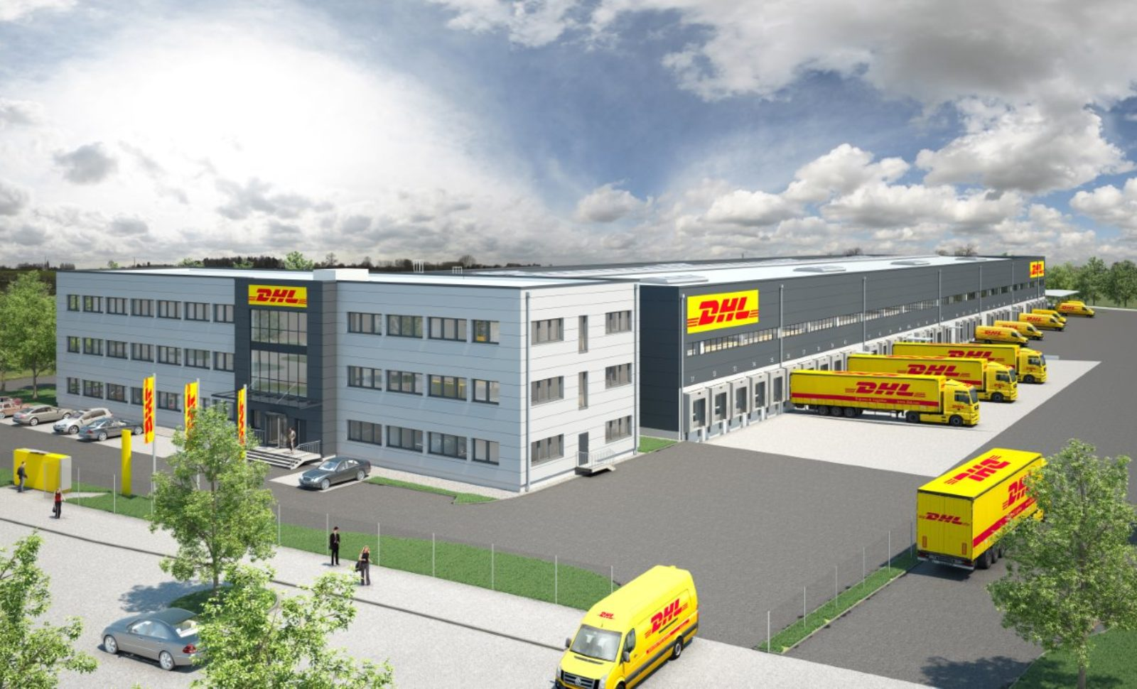 neues dhl verteilzentrum in wien logistik express news. Black Bedroom Furniture Sets. Home Design Ideas