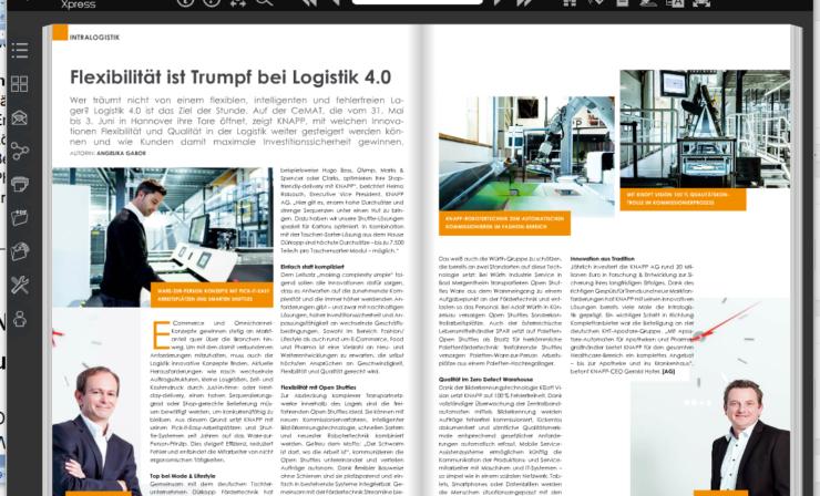 Flexibilität ist Trumpf bei Logistik 4.0