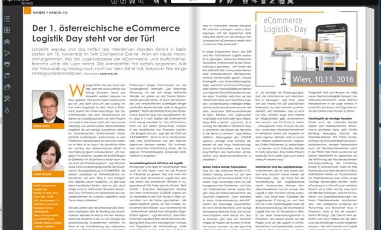 Der 1. österreichische eCommerce Logistik-Day steht vor der Tür – jetzt anmelden!