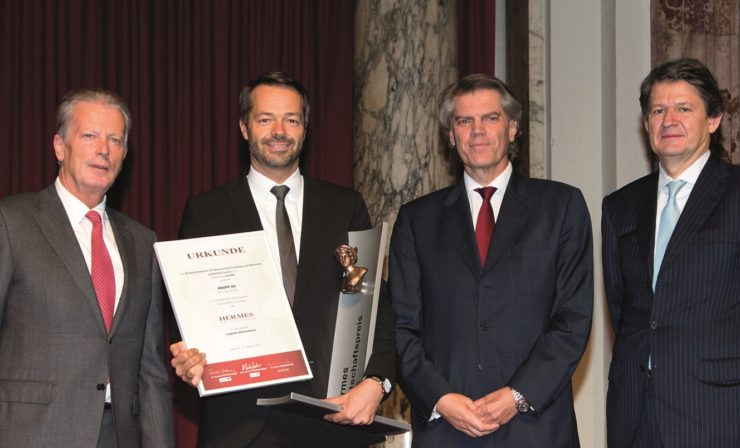 KNAPP AG mit dem HERMES.Wirtschafts.Preis 2016 ausgezeichnet