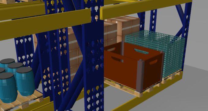 SIS Informatik liefert FRASPED® jetzt mit interaktiver 3D-Darstellung des Lagers