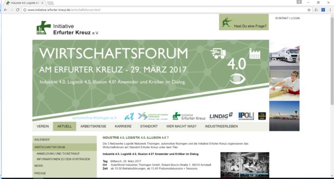 Netzwerke organisieren erstmals Wirtschaftsforum am Erfurter Kreuz