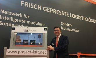 Ladungsträger der Zukunft: Gebhardt stellte Forschungsprojekt iSLT.NET auf Logimat vor
