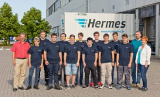 Logistik auf 90.000 Quadratmetern: Hermes Fulfilment begrüßt in Ohrdruf elf neue Auszubildende