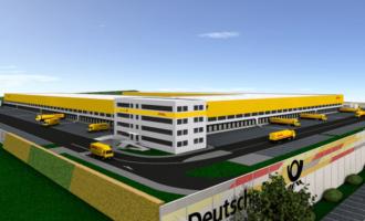 50.000 Sendungen pro Stunde: DHL baut Mega-Paketzentrum