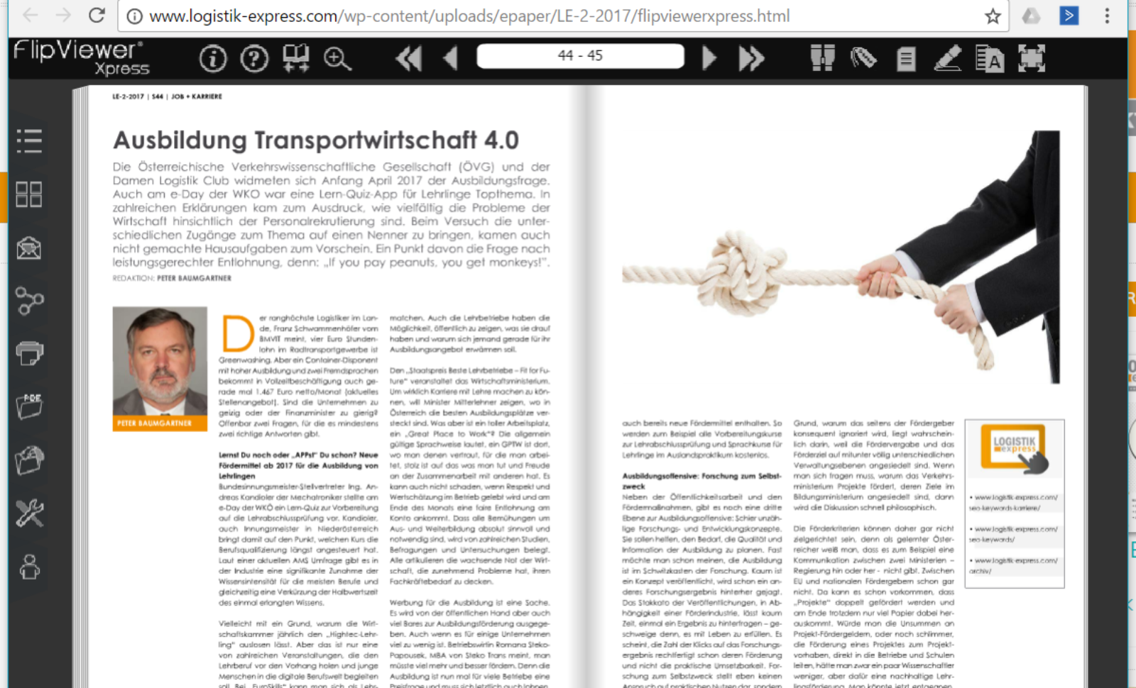 Ausbildung Transportwirtschaft 4.0