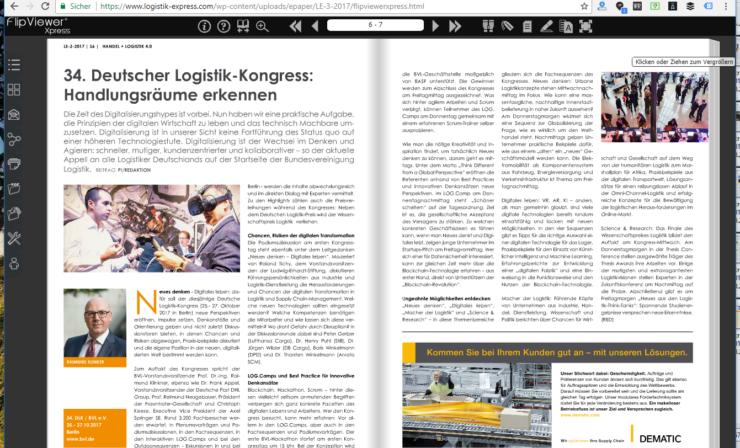 34. Deutscher Logistik-Kongress in Berlin