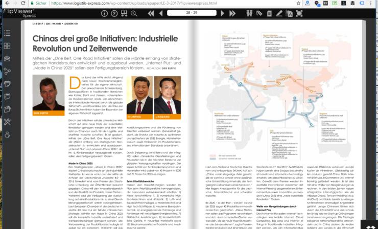 Chinas drei große Initiativen: 4. Industrielle Revolution und Zeitenwende