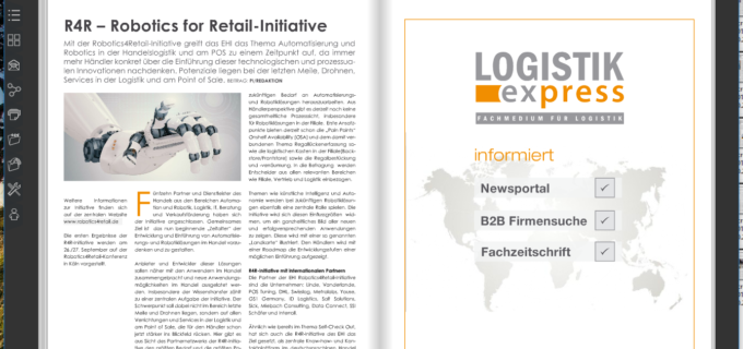 R4R – Robotics for Retail-Initiative des EHI