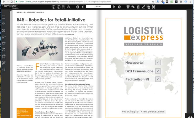 R4R – Robotics for Retail-Initiative des EHI