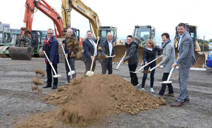 Spatenstich am neuen Logistikzentrum, Walter Eckhardt GmbH verlagert Firmensitz
