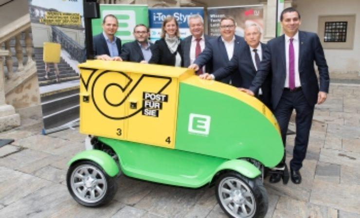 Österreichische Post: Autonomes E-Fahrzeug stellt Pakete im Alleingang zu