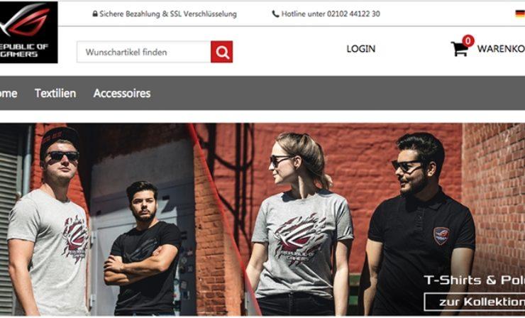 ASUS setzt mit ROG Wear-Shop auf plentymarkets CERES