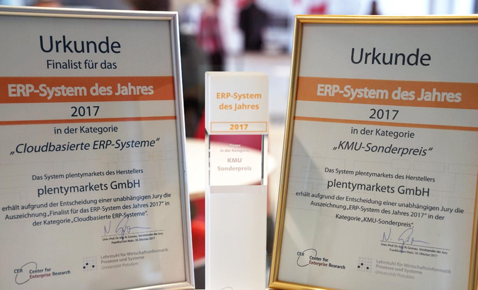 plentymarkets bei ERP des Jahres-Verleihung ausgezeichnet