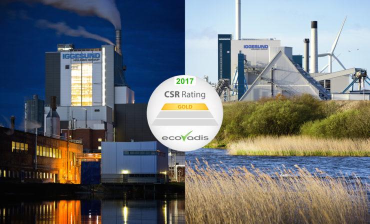 Iggesund-Kartonfabriken erhalten bestes Nachhaltigkeitsrating von EcoVadis