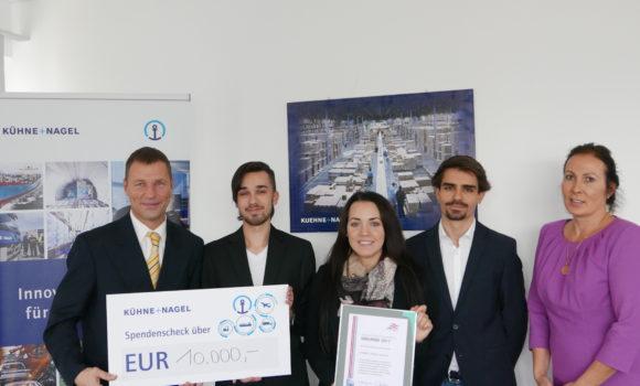 Kühne + Nagel-Nachwuchs zeigt soziales Engagement – Spende zugunsten des Österreichischen Behindertensportverbandes