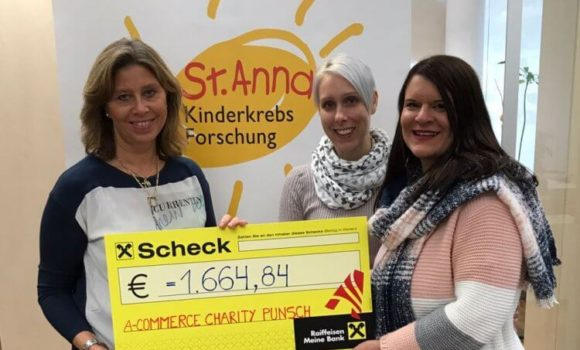A-COMMERCE CHARITY PUNSCH EVENT am 30.11.2017 – Spendenübergabe