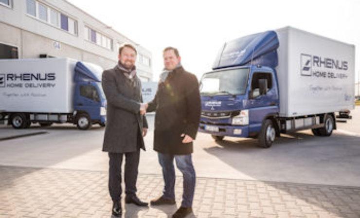 Neueste E-Lkw der Daimler-Flotte treffen bei Rhenus Home Delivery ein