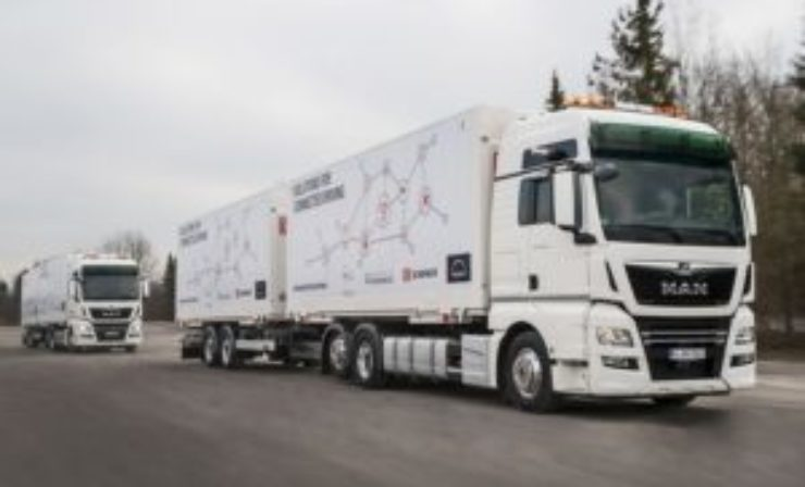 DB Schenker and MAN start platooning trial