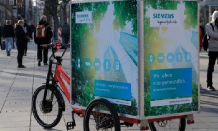 Siemens startet Pilotprojekt mit E-Lastenrädern in Stuttgart