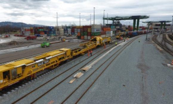 Alle Gleise am ÖBB-Terminal Wolfurt in Position