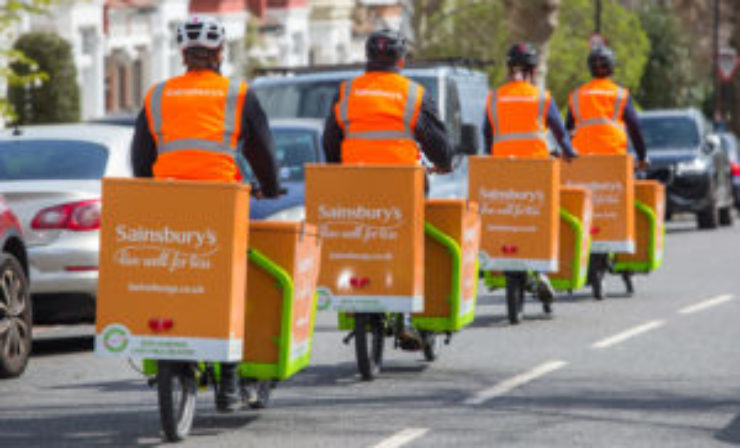 Sainsbury's trials electric bike deliveries