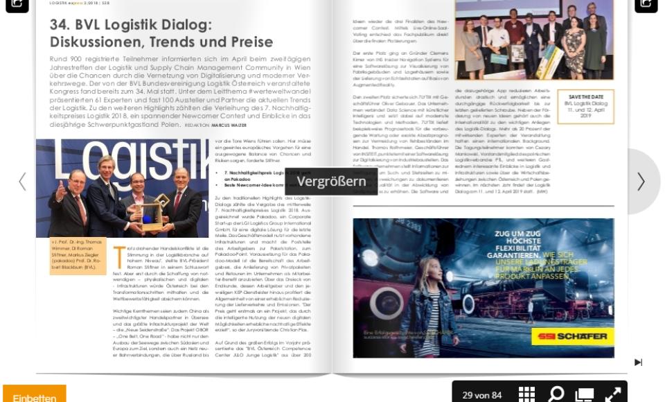 34. Logistik Dialog2018: Diskussionen, Trends und Preise