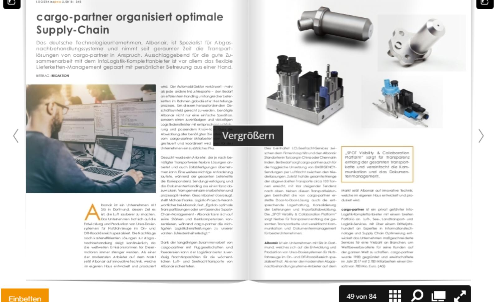 cargo-partner organisiert optimale Supply-Chain