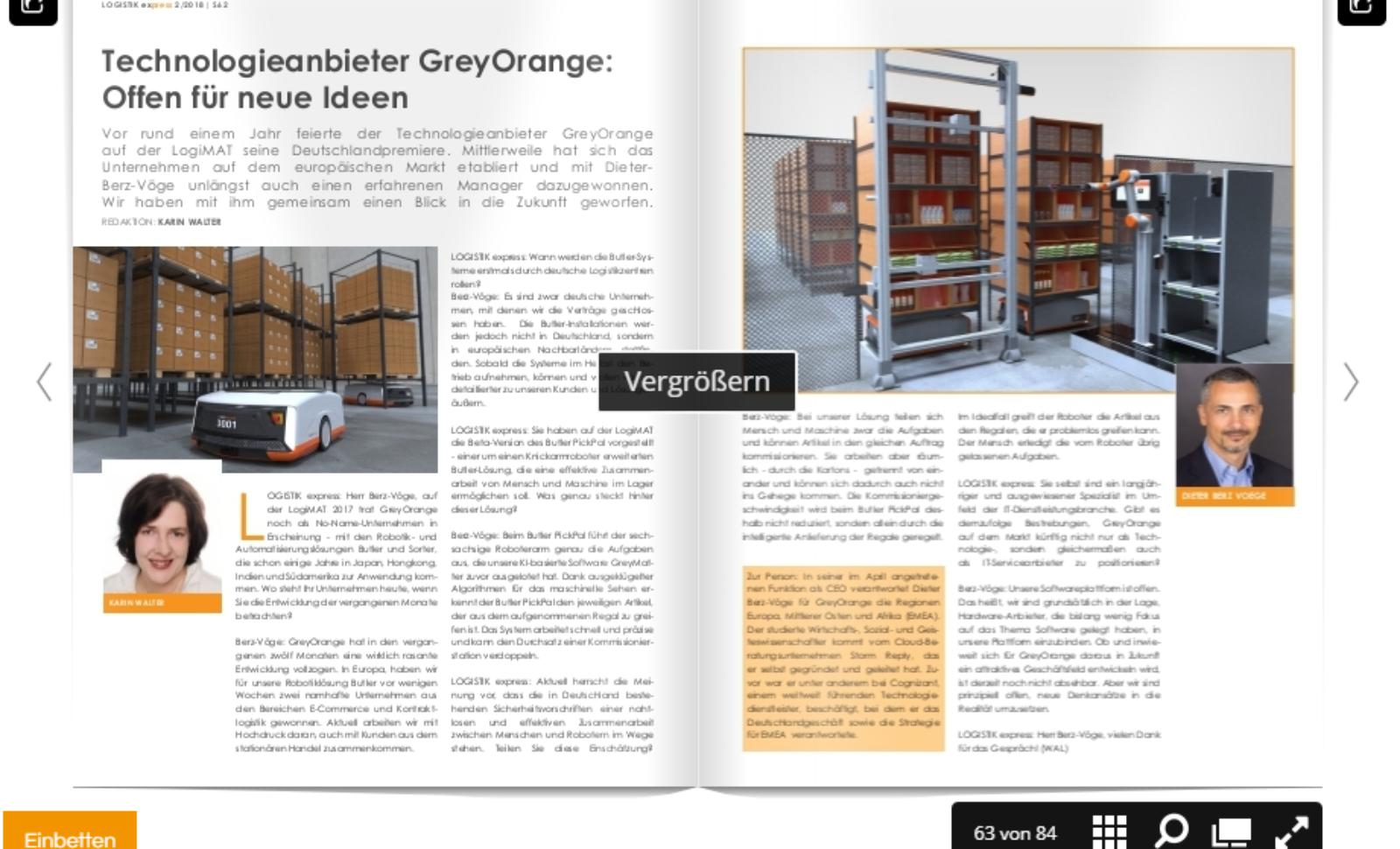 Technologieanbieter GreyOrange: Offen für neue Ideen