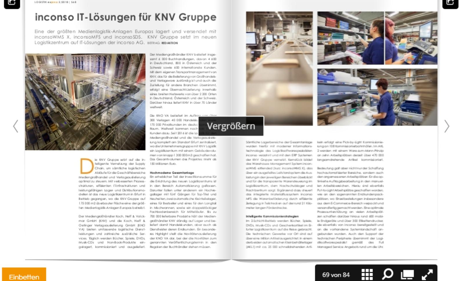 inconso IT-Lösungen für KNV Gruppe