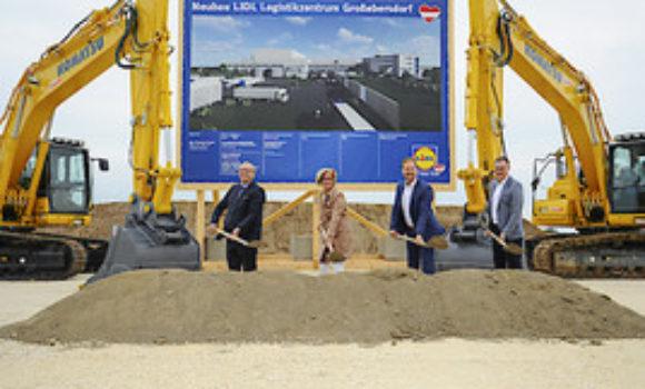 150 Millionen Euro Investition in Niederösterreich: Spatenstich für neues LIDL Logistikzentrum Großebersdorf