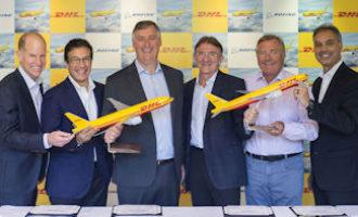 DHL Express stärkt Interkontinentalnetz mit 14 neuen Boeing 777 Frachtflugzeugen