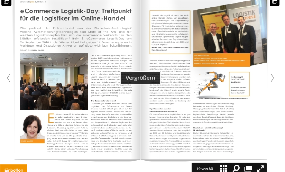 eCommerce Logistik-Day 2018: Treffpunkt für die Logistiker im Online-Handel