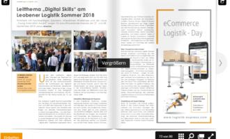 """Leitthema """"Digital Skills"""" am Leobener Logistik Sommer 2018"""