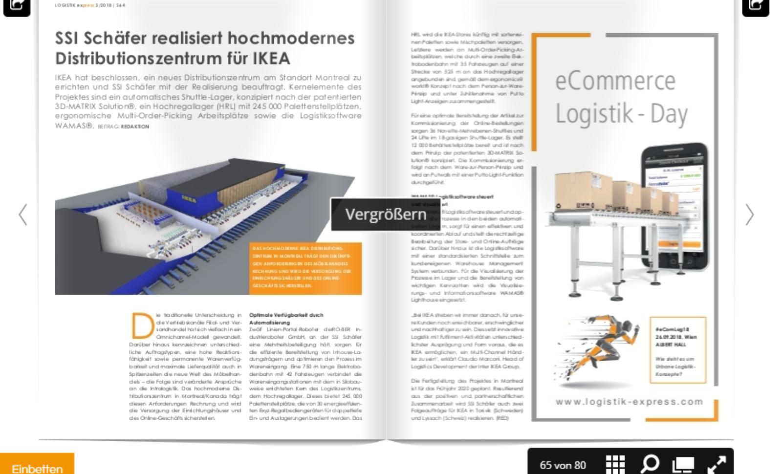 SSI Schäfer realisiert hochmodernes Distributionszentrum für IKEA