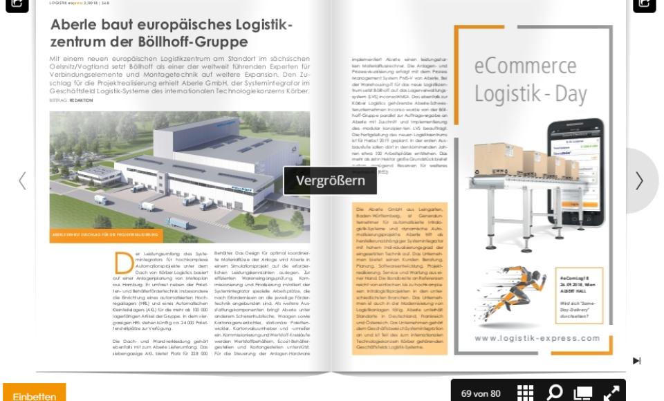 Aberle baut europäisches Logistik-zentrum der Böllhoff-Gruppe