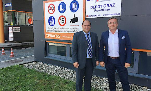 Conzept eröffnete Containerdepot im steirischen Premstätten