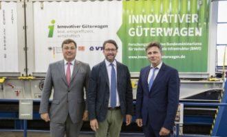 """Wirtschaftlich, Energie sparend, leise: Halbzeit bei den Testfahrten der """"Innovativen Güterwagen"""""""