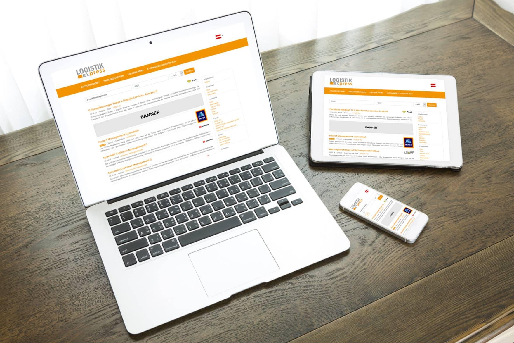 Neues Jobportal für die Logistikbranche. Kooperation mit LOGISTIK express.