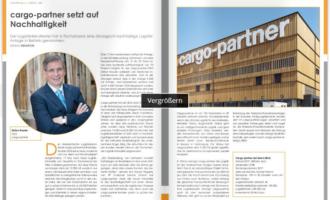 cargo-partner setzt auf  Nachhaltigkeit