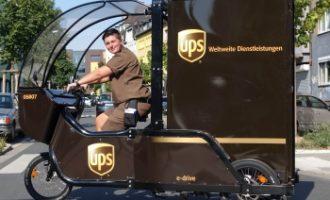 UPS startet Zustellung mit E-Lastenfahrrad in Karlsruhe