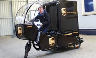 UPS reduziert durch E-Lastenfahrräder Emissionen in der Kieler Innenstadt