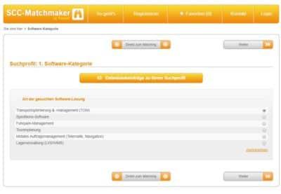 >50 Speditionssoftware-Anbieter (TMS) im Online Vergleich auf www.speditionssoftware-vergleich.de